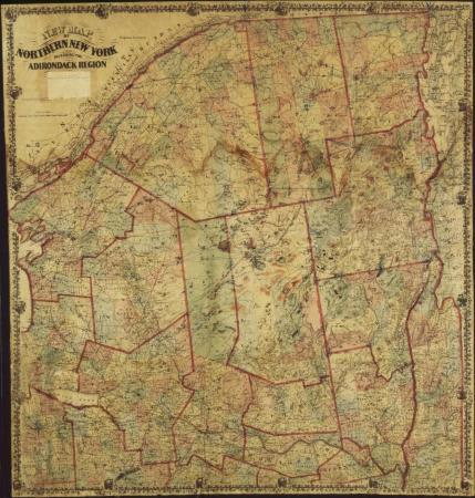 Map Of Northern New York.Digital Collections New York State Archives