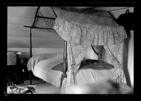 Canopy Bed And Other Furniture In The Bedroom Of The Revolutionary War Era  Senate House Of Kingston, N.Y. This Image Was Created To Record The  Historic ...